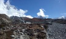 L'arrivo al lodge di Chhukung