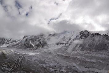 ghiacciaio khmbu presso gorak shep