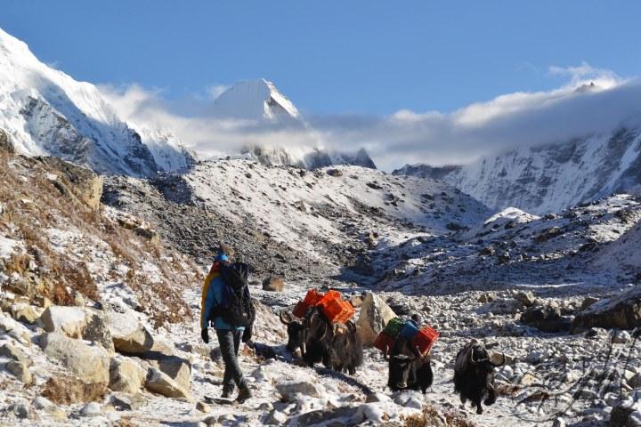 Sentiero da Lobuche a Gorak Shep